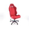 Biroja krēsls bez roku balstiem, zamšādas, sarkans