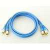 RCA audio vads, dubultais, 1m, apzeltīti gali, zils