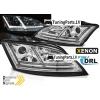 Audi TT 8J (06-10) priekšējie lukturi, Led DRL, dinamisks pagriezienu rādītajs, hromēti, xenona