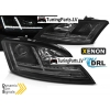 Audi TT 8J (06-10) priekšējie lukturi, Led DRL, dinamisks pagriezienu rādītajs, melni, xenona