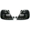 Ford Fiesta (02-05) priekšējie LED lukturi, melni