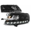 Audi A6 C6 4F (04-08) priekšējie lukturi, LED dayline, DRL, melni