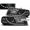 Skoda Octavia (00-04) priekšējie lukturi, LED dayline, melni