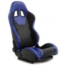 """Krēsls """"Monza"""", melns/zils, regulējams + sliedes"""
