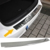 Ford Focus 3 Turnier (11-...) aizmugures bampera aizsargs, hromēts