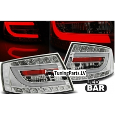 Audi A6 C6 (04-08) LED aizmugurējie lukturi, hromēti, 7 PIN