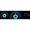 Ford Escort MK7 (93-98) plazmas spidometri 20-220km/h, balti