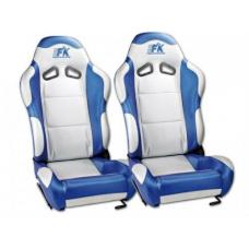 """Krēsls """"Spacelook carbon"""", balts/zils, regulējams, labais + kreisais"""