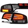 Audi A4 B7 (04-07) sedana LED aizmugurējie lukturi, melni
