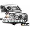 Audi A6 C6 4F (04-08) priekšējie lukturi, LED dayline, DRL, hromēti, xenona