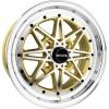 Alumīnija diski Drag DR20 15x7 ET10 4x100 Gold Machined