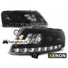Audi A6 C6 4F (04-08) priekšējie lukturi, LED dayline, DRL, melni, xenona