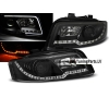 Audi A4 8E B6 (01-04) priekšējie lukturi, LED dayline, melni, LED pagrieziens