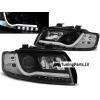 Audi A4 8E B6 (01-04) priekšējie lukturi, LED dayline, DRL, melni