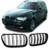BMW X3 E83 (06-11) priekšējās restes, melnas/glancētas