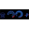 Honda CRX Del Sol (93-97) plazmas spidometri 0-240km/h, balti