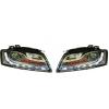 Audi A5 (07-09) priekšējie lukturi, LED dayline, hromēti