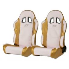"""Krēsls """"Miami"""", balts/zelta, regulējams, labais + kreisais"""
