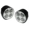 LED Dayline lukturi, 4 HIPOWERLED diodes, 73x45mm, hromēti