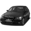 BMW E90/E91 (05-08) priekšējo lukturu uzlikas, melnas