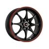 Drag DR9 16x7 ET40 5x100/114,3 Black with Red