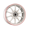 Drag DR9 17x7 ET40 4x100/114,3 White with Red
