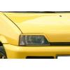 Fiat Cinquecento (92-98) priekšējo lukturu uzlikas, melnas