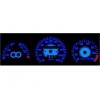 VW Corrado (88-95); Passat 35i (93-96); T4 (90-03) plazmas spidometri 20-220km/h, 7000 RPM, balti
